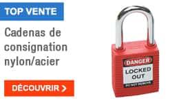 TOP VENTE - Cadenas de consignation nylon/acier