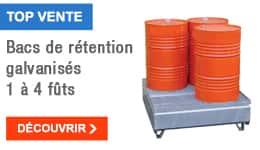 TOP VENTE - Bacs de rétention galvanisés 1 à 4 fûts