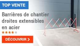 TOP VENTE - Barrières de chantier droites extensibles en acier