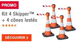 PROMO - Kit 4 Skipper™ + 4 cônes lestés