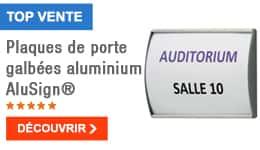 TOP VENTE - Plaques de porte galbées aluminium AluSign®