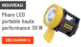 NOUVEAU - Phare LED portable haute performance 30 W