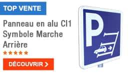 TOP VENTE - Panneau en alu Cl1 Symbole Marche Arrière