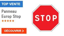 TOP VENTE - Panneau Europ Stop