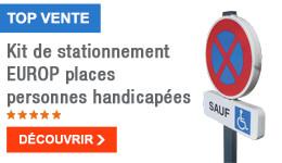 TOP VENTE - Kit de stationnement EUROP places personnes handicapées