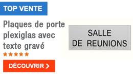 TOP VENTE - Plaques de porte plexiglas avec texte gravé