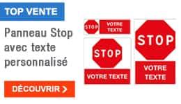TOP VENTE - Panneau Stop avec texte personnalisé