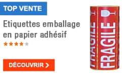 TOP VENTE - Etiquettes emballage en papier adhésif