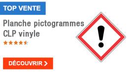 TOP VENTE - Planche pictogrammes CLP vinyle
