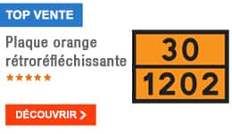 TOP VENTE - Plaque orange rétroréfléchissante
