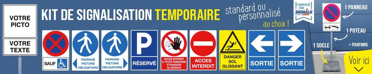 Kit de signalisation temporaire