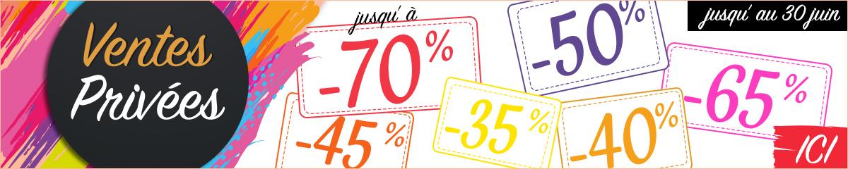 Ventes Privées jusqu'à -70%