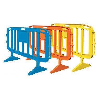 Barrières en résine plastique avec pieds mobiles'