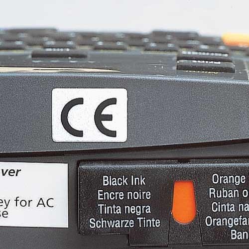 Self-adhesive CE mark labels