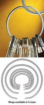 Key-securing tamper-proof keyrings