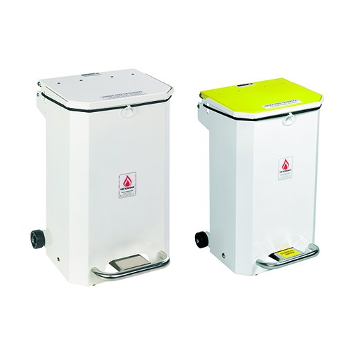 Hands-free durable pedal bins