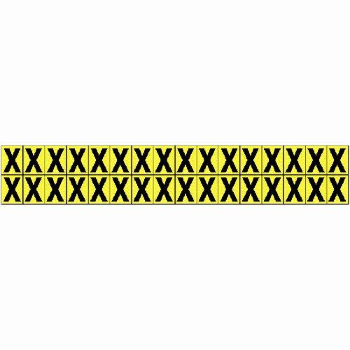 Vinyl Cloth Letter X 16mm