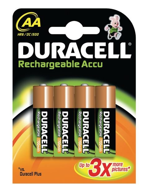 Duracell rechargeable Accu batteries - assorted sizes