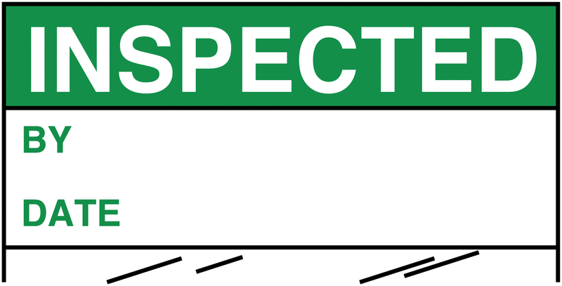 Electrical Safety Write-On Cable Markers - INSPECTED BY/DATE