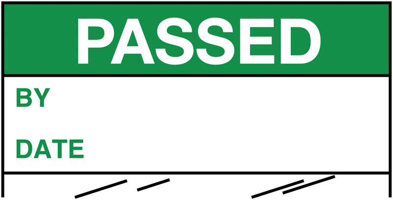 Electrical Safety Write-On Cable Markers - PASSED BY/DATE