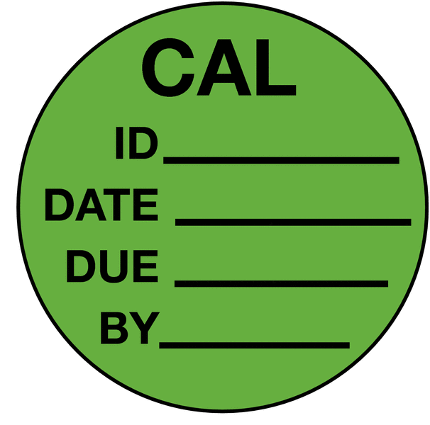 This is a graphic of Ridiculous Self Laminating Calibration Labels
