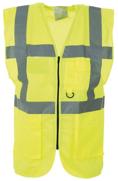 Reflective high visibility waistcoat vest