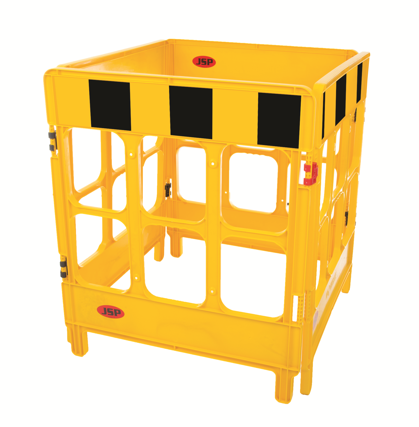 JSP 4-gate foldable polypropylene work barriers