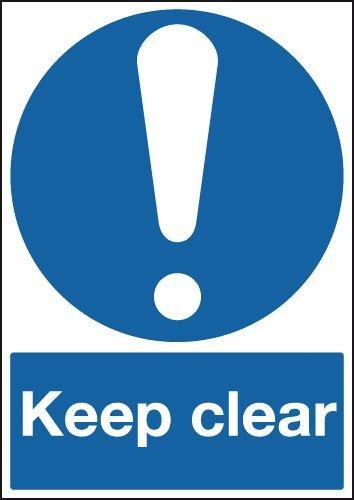 Keep Clear Sign - single