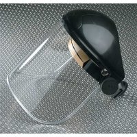 Adjustable Polycarbonate or Acetate Face Shield with Green Option