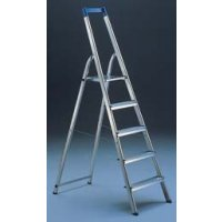Lightweight Folding Aluminum Stepladder With Safety Features