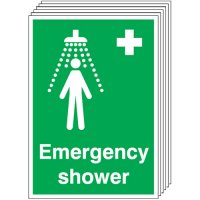 Emergency Shower Signs - 6 Pack
