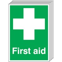 First Aid Signs - 6 Pack