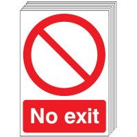 No Exit Signs - 6 Pack