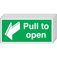 Pull To Open Signs - 6 Pack