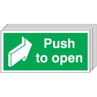 Push To Open Signs - 6 Pack