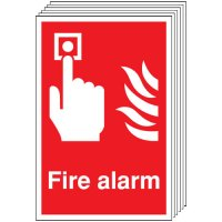 Fire Alarm Signs - 6 Pack