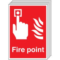 Fire Point Signs - 6 Pack
