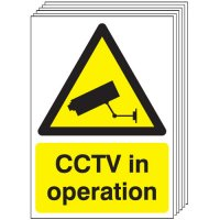 CCTV In Operation Signs - 6 Pack