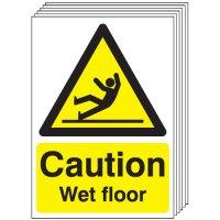 Caution Wet Floor Signs - 6 Pack