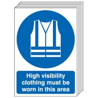 High Visibility Clothing... 6 Pack Signs