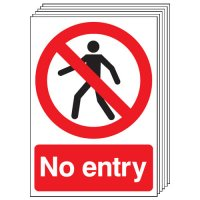 No Entry Signs - 6 Pack