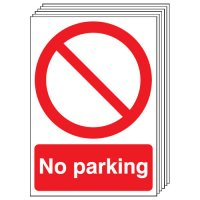 No Parking Signs - 6 Pack