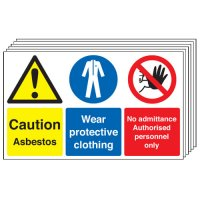 Caution Asbestos... 6 Pack Multi-Message Signs
