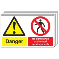 Danger, No Admittance... 6 Pack Multi-Message Signs