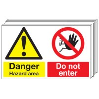 Danger Hazard Area... 6 Pack Multi-Message Signs