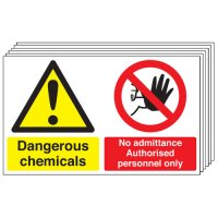 Dangerous Chemicals... 6 Pack Multi-Message Signs