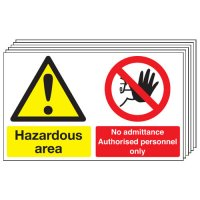 Hazardous Area... 6 Pack Multi-Message Signs