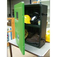 Large double-shelf PPE storage cabinet