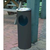 Free standing combined ash and litter bin