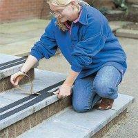 Self-adhesive anti-slip safety tapes